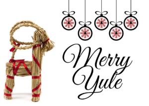 Deer And Christmas Balls Greeting Card